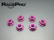 RacePro - Yamaha YZF R1 01 - x6 Titanium Rear Sprocket Nuts - Purple