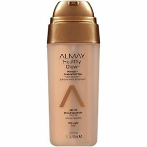 Almay Healthy Glow Makeup and Gradual Self Tan, Light #100, 1 oz