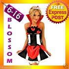 E13 Queen of Hearts Alice In Wonderland Ladies Dress Costume Outfit + Tiara