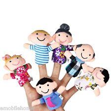 6 Pcs Educational Family Finger Puppets Cloth Doll Cartoon Toy