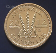 "2012 $1 Wheat Sheaf Dollar Australian Coin "" M "" Melbourne Privymark UNC"