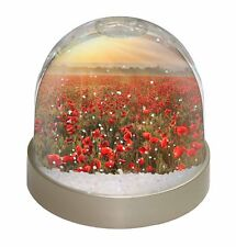 Poppies, Poppy Field at Sunset Photo Snow Globe Waterball Stocking Fill, FL-32GL