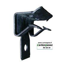 """Clip in acciaio per fissaggio su trave di ferro ad """"H"""" - cartongesso drywall"""
