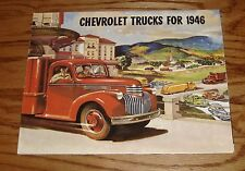 1946 Chevrolet Truck Full Line Foldout Sales Brochure 46 Chevy Pickup Panel