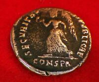 VALENTINIAN II  377 AD    OVERCOME BY THE LEGEND OF HIS FATHER      ROMAN COINS