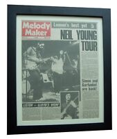 LISTEN+LLOYD WATSON+MELODY MAKER RARE ORIGINAL 1972+POSTER+FRAMED+GLOBAL SHIP