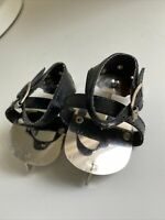 American Girl Doll Samantha Ice Skates Black Winter Amusements Silver Skating
