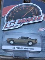 Greenlight MUSCLE  Series 19.  1970 Plymouth Hemi Cuda.  gold