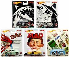 Hot Wheels Mad Magazine 5 Car Complete Set Spy Vs Spy Brand New