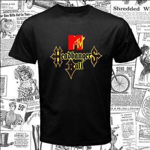 Headbangers Ball Music MTV Logo Men's Black T-Shirt Size S-5XL