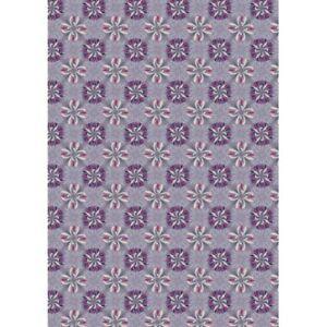 Fat Quarter Lewis & Irene Sunflowers Lilac Grey 100% Craft Cotton Mask Fabric