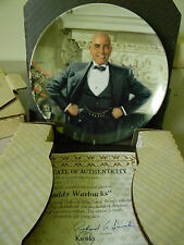 """Daddy Warbucks"" Knowles Collector Plate- Second in Annie Series 1982"