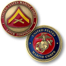 NEW USMC  U.S. Marines Lance Corporal Challenge Coin.