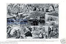 Oktoberfest München Kunstdruck von 1912 Franz Guillery Pasing Tracht Drindl Mass