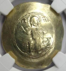 Nicephorus III EL Histamenon Nomisma Christ Coin 1078-1081 AD. NGC Choice VF