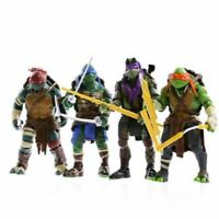 4X TMNT Teenage Mutant Ninja Turtles Action Figures Anime Movie For Collection