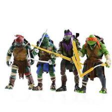 4 PCS Lot TMNT Teenage Mutant Ninja Turtles Action Figures Anime Movie Xmas Gift