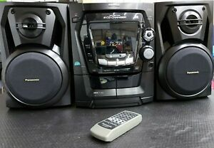 Panasonic SA-AK100 Home Stereo System 5 Disc CD Changer FM Tape Cassette Works