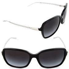Coach HC 8152 5327/11 Sunglasses Black Glitter Crystal/Light Grey Gradient Lens