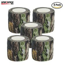 5 Rolls 4.5M Military Camo Stretch Bandage Camping Hunting Camouflage Tape Wrap
