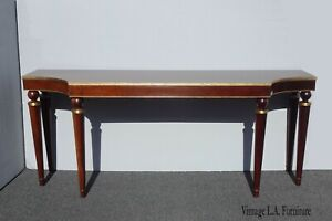 Vintage Barbara Barry for Baker Gold Gilt Console Table Neoclassical Sofa Table