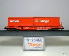 Roco N 25466 - Carro a tasca Sdkms 707 di DB Cargo con container Railion e DB