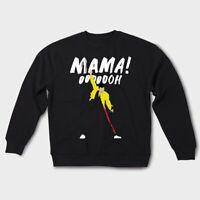 Freddie Mercury Mama Oh Art Queen Sweatshirt Bohemian Rhapsody Printed Pullover