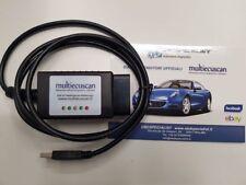 ELM 327 MODIFICATO certificato multiecuscan CAN OBD2 FIAT SERVICE fiatecuscan X