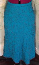 Turquoise blue beaded embellished chiffon A line skirt fully lined Whistles BNWT