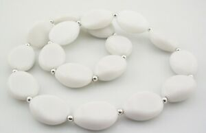 Kenneth Jay Lane Resin Expansion Necklace   WHITE
