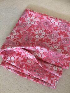 Vintage/Retro Bed Sheet/Fabric Royale Janaco's Pink/Floral/Cotton Blend