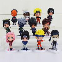 6pcs 7cm Anime Naruto Figure Toy Sasuke Obito Killer Bee Mini Model for Kids