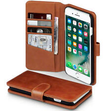 Véritable Luxe Portefeuille Cuir étui pour Apple iPhone 7 Plus / 8 Cognac