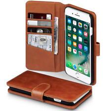 Auténtico Funda De Piel Genuina Funda para Apple iPhone 7 Plus / 8 Plus Coñac