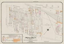 1913, GOAD, MONTREAL, CANADIAN PACIFIC RAILWAY ROUND HOUSE, COPY PLAT ATLAS MAP
