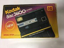 Vintage Kodak Disc 3600 Camera W/ Flash Wrist Strap And Original Box Fast Ship!