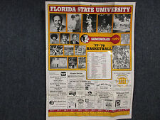 1977-78 Florida State Men's Basketball Wall Calendar(w/HUGH  DURHAM/HARRY  DAVIS