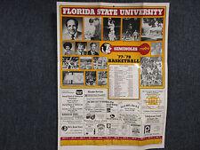 1977-78 Florida State Men's Basketball Wall Calendar(w/HUGH  DURHAM/HARRY  DAVIS