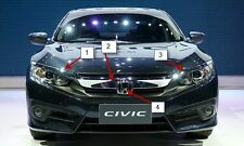 Genuine Honda Civic FC X 10 2016 Sedan Chrome Molding Front Grille Assy H Emblem