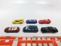 CG537-0,5# 6x Herpa H0/1:87 PKW: Ferrari F40 + Audi + Mercedes + Seat, sehr gut