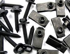 Body Bolts & U-nut Clips- M6-1.0 x 35mm Long- 10mm Hex- 40 pcs (20ea)- LD#145F