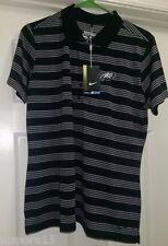 Nike Golf NWT Woman's Striped w/ Philadelphia Eagle Logo Polo Shirt Size XL