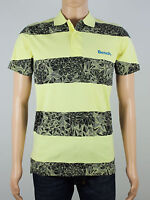 New Bench Mens Size S M Yellow Black Short Sleeve Polo Shirt Top