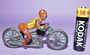 * PRE-WAR * JOHN HILL & CO * LEAD *  SPEEDWAY / TRACK MOTORCYCLE WITH RIDER *