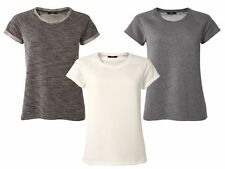 Casual Shape Top Blouse Decorated Size 6 8 10 12 14 16 Women Cream Grey Black & White S