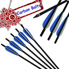 """16"""" 18"""" 20"""" 22"""" Archery Mixed Carbon Arrows Crossbow Bolts Target Hunting Blue"""