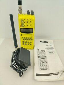 Uniden Bearcat SC 150Y Twin Turbo Sportcat Portable Scanner Radio charger manual