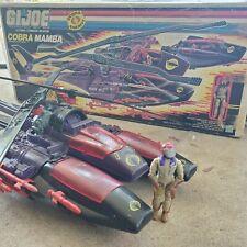 Vintage GI Joe Vehicle 1987 Cobra Mamba nearly complete with box