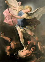 Oil painting Fa Presto - St. Michael angel killing the Devil free shipping cost