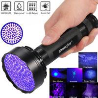 UV Flashlight Torch 365/395 nM 100 LED Light Blacklight Inspection Lamp Torch US